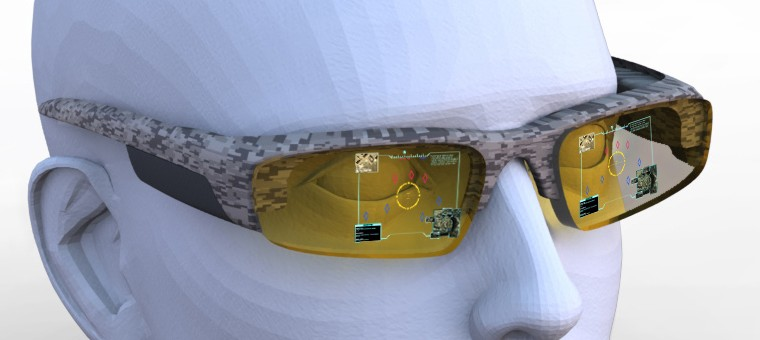 DARPA Holographic Glasses Blade Tac Eye Marketing Design for common Head-Mounted Display